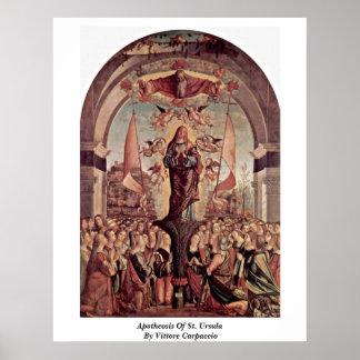 Apoteosis de Santa Ursula de Vittore Carpaccio Poster
