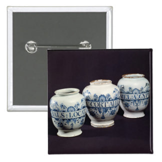 Apothecaries' drug jars, c.1740 2 inch square button