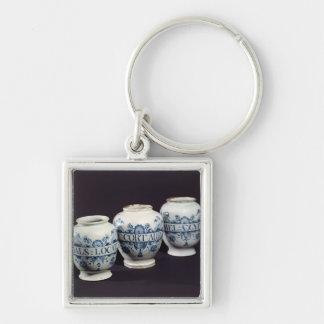 Apothecaries' drug jars, c.1740 keychain