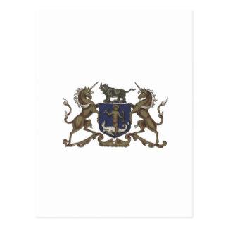 Apothecaries Unicorn Crest Postcard