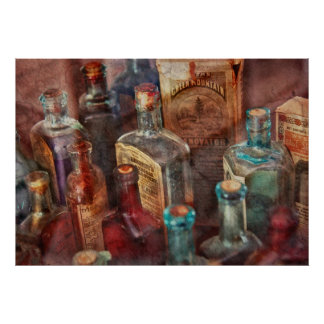 Apothecary - A Series of bottles Poster