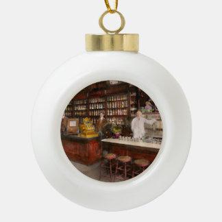 Apothecary - Cocke drugs apothecary 1895 Ceramic Ball Christmas Ornament