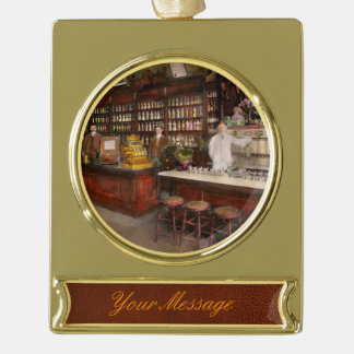 Apothecary - Cocke drugs apothecary 1895 Gold Plated Banner Ornament