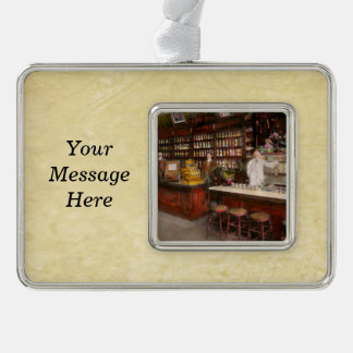 Apothecary - Cocke drugs apothecary 1895 Silver Plated Framed Ornament