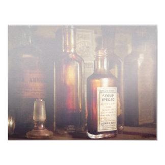 "Apothecary - Domestic Remedies 4.25"" X 5.5"" Invitation Card"