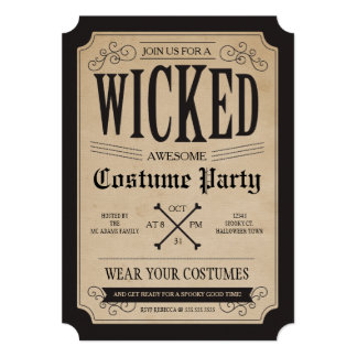 "Apothecary Halloween Party Invite 5"" X 7"" Invitation Card"