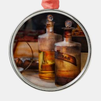 Apothecary - Magic Elixir  Round Metal Christmas Ornament