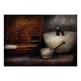 Apothecary - Pestle Drawers Print
