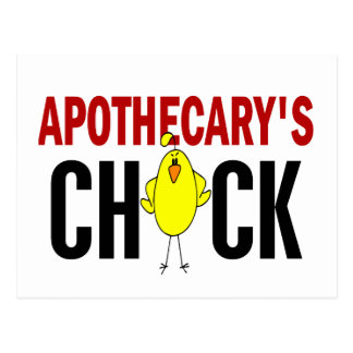 Apothecary's Chick Postcard