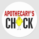 Apothecary's Chick Round Stickers