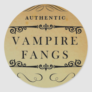 Apothecary Vampire Fangs Halloween Stickers