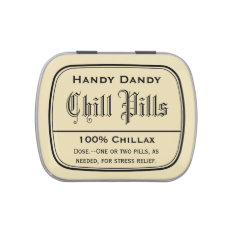 Apothecary Vintage Druggist Label Chill Pill Funny Candy Tin at Zazzle