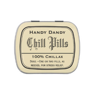 image about Chill Pill Printable Label titled Sweet Jelly Abdomen Tins Zazzle