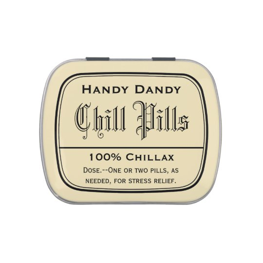 apothecary vintage druggist label chill pill funny jelly belly candy