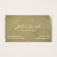 Apothecary Vintage Old Paper Medical Business Card at Zazzle