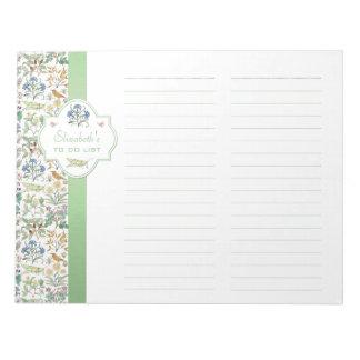 Apothecary's Garden Custom To Do List Notepad