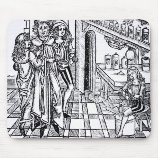 Apothecary's shop, from 'Das Buch der Cirugia' pub Mouse Pad