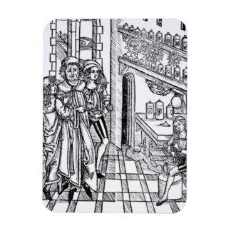 Apothecary's shop, from 'Das Buch der Cirugia' pub Rectangular Photo Magnet