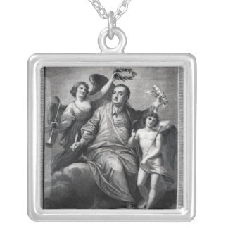 Apotheosis of Handel, 1787 Silver Plated Necklace