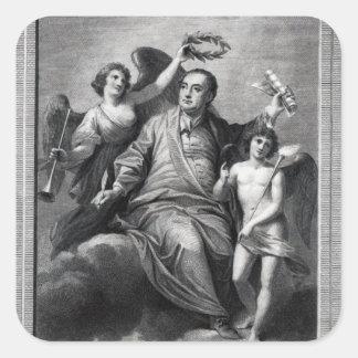 Apotheosis of Handel, 1787 Square Stickers