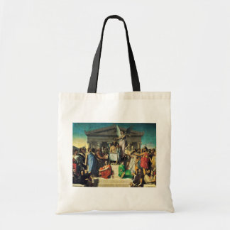 Apotheosis Of Homer By Ingres Jean Auguste Dominiq Canvas Bag