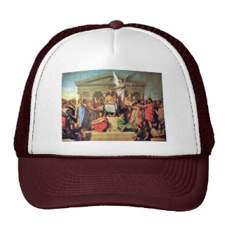 Apotheosis Of Homer By Ingres Jean Auguste Dominiq Trucker Hats
