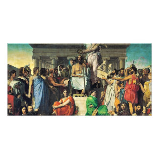 Apotheosis Of Homer By Ingres Jean Auguste Dominiq Picture Card