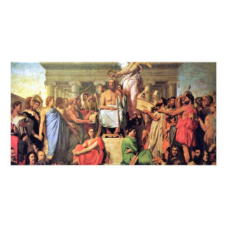Apotheosis Of Homer By Ingres Jean Auguste Dominiq Personalized Photo Card