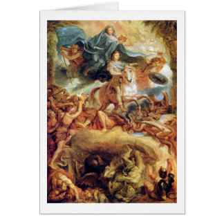 Apotheosis Of Louis Xiv By Charles Le Brun Card