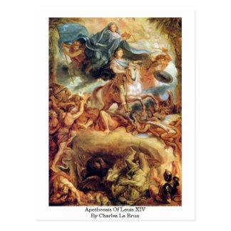 Apotheosis Of Louis Xiv By Charles Le Brun Postcard