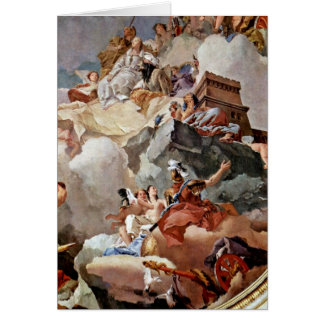 Apotheosis Of Royal Family By Giovanni Tiepolo Greeting Card