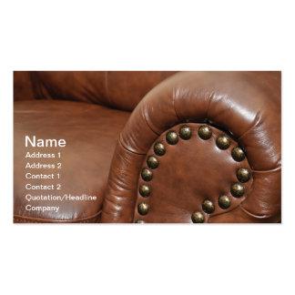apoyabrazos y tachuelas para una silla de cuero tarjetas de visita