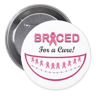 Apoyado para un botón de la curación pins