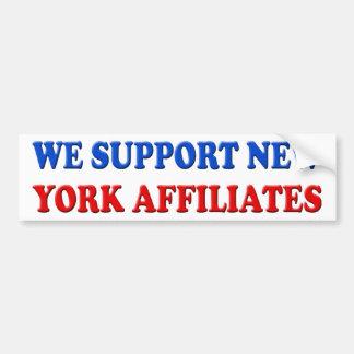 Apoyamos a los afiliados de Nueva York Pegatina De Parachoque