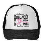 Apoyando a mi abuela - cáncer de pecho Awarenes Gorros Bordados