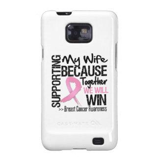 Apoyando a mi esposa - cáncer de pecho Awareness p Galaxy SII Carcasa