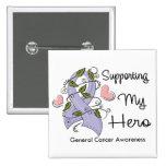Apoyando a mi héroe - conciencia del cáncer pin