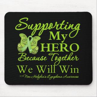 Apoyando a mi héroe - linfoma de Non-Hodgkins Mouse Pad