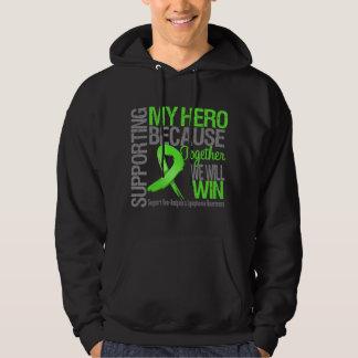 Apoyando a mi héroe - linfoma de Non-Hodgkins Sudaderas