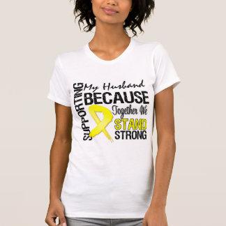 Apoyando a mi marido nos colocamos fuertes - los m camiseta