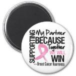 Apoyando a mi socio - conciencia del cáncer de pec iman