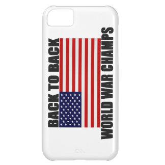 Apoye 2 el caso trasero del iPhone 5 de la bandera