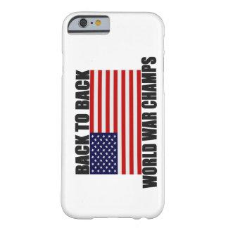 Apoye 2 el caso trasero del iPhone 6 de la bandera
