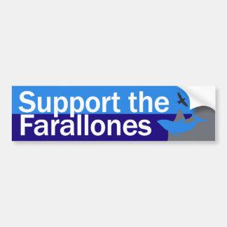 Apoye a la pegatina para el parachoques de Farallo Pegatina De Parachoque