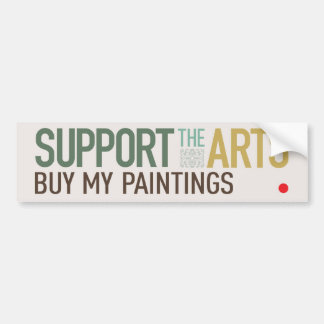 Apoye a la pegatina para el parachoques de los art pegatina para auto
