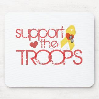 Apoye a las tropas alfombrillas de raton