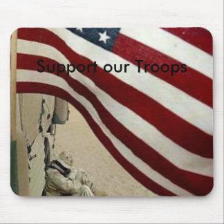 apoye a las tropas, apoye a nuestras tropas alfombrilla de raton