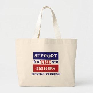 Apoye a las tropas bolsas de mano