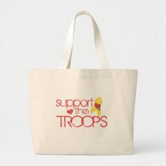 Apoye a las tropas bolsa de mano