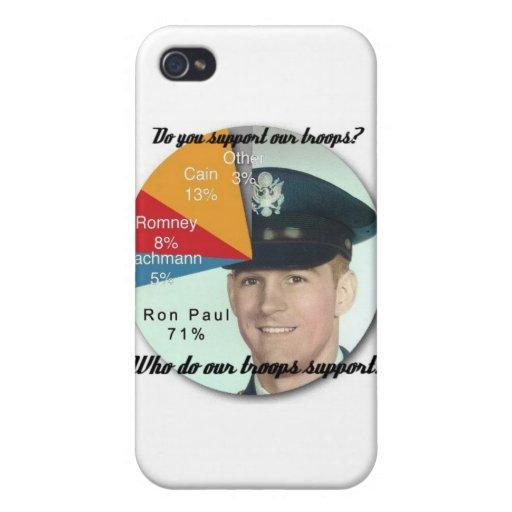¡Apoye a las tropas! iPhone 4 Carcasa